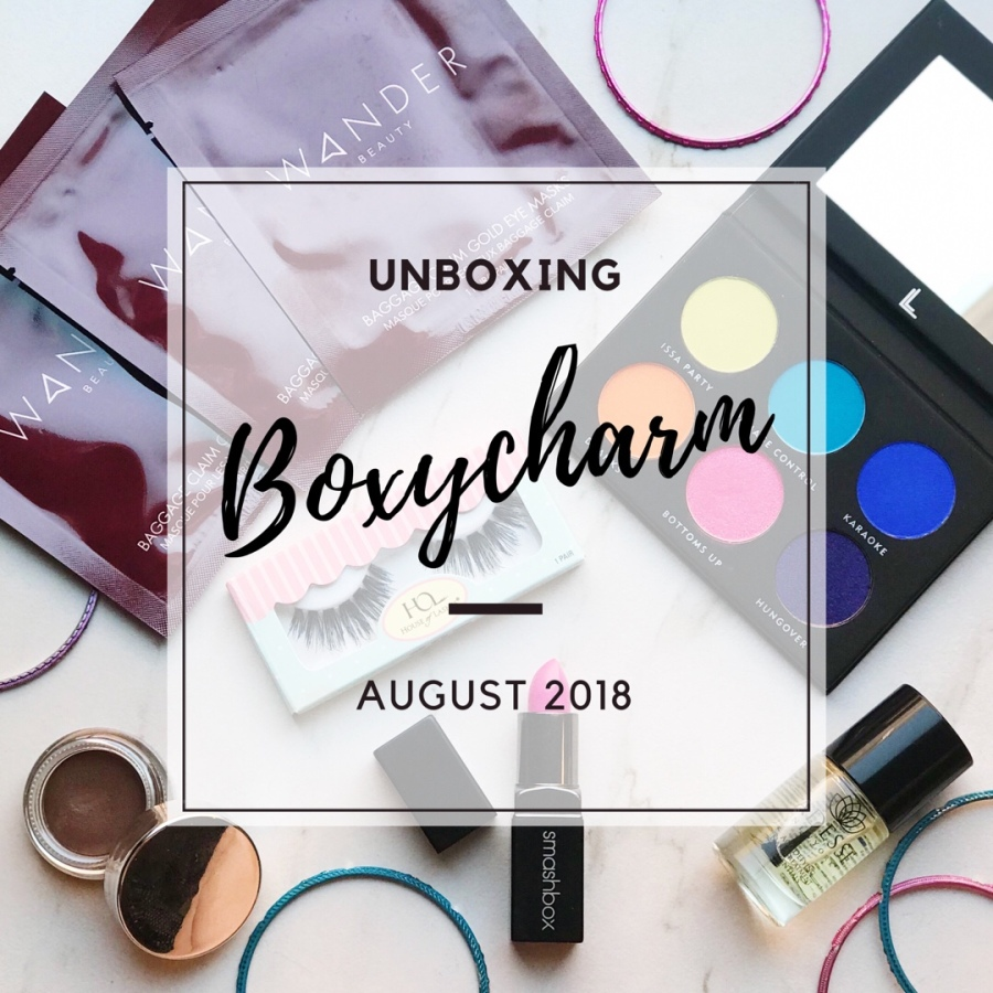 unboxing boxycharm august 2018 my fit ash life